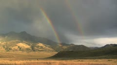 Montana Double Rainbow - stock footage
