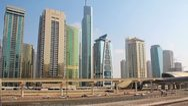 Time Lapse 1080p: Dubai city traffic, United Arab Emirates Stock Footage