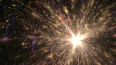 Fireworks-CGI-(on black)-01 Stock Footage