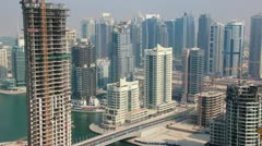 Stock Video Footage of Time Lapse 1080p: Development of Dubai Marina, United Arab Emirates