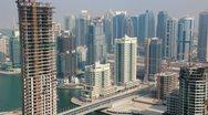 Time Lapse 1080p: Development of Dubai Marina, United Arab Emirates Stock Footage