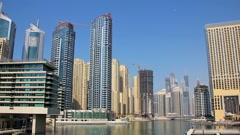 Time Lapse 1080p: Dubai Marina, United Arab Emirates Stock Footage