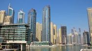 Stock Video Footage of Time Lapse 1080p: Dubai Marina, United Arab Emirates