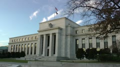 Federal Reserve Building in Washington, DC - stock footage