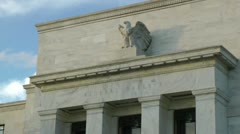 Federal Reserve Building - Close on Name & Eagle, Washington, DC - stock footage