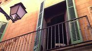 Stock Video Footage of Spanish Apartment Window