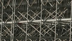 Back side of the bleachers Stock Footage