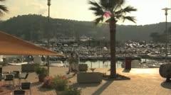 Spanish Beach Town Stock Footage