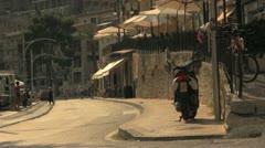 Seaside Mediterranean Town Stock Footage