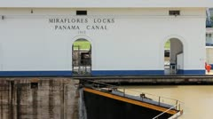 Panama Canal Miraflores Locks Stock Footage