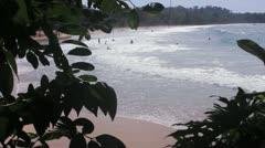 Caribbean Ocean People in Waves Stock Footage