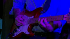 Fender Stratocaster Guitar Solo - stock footage