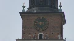 Viivästys kaunis kaupunki kello Arkistovideo