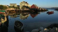 The Harbour at Peggy's Cove- Nova Scotia Canada - stock footage