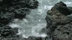 Waves on Lava Rocks Stock Footage
