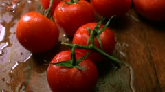 Tomato and water splash, Slow Motion Stock Footage
