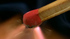 Matchstick, Slow Motion Stock Footage