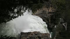 Yellowstone Upper Falls Stock Footage