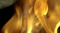 Flame, Slow Motion Stock Footage