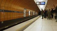 Munich subway timelapse Stock Footage