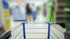 Shopping Cart Blurred - stock footage