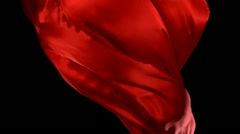 Red fabric, Slow Motion - stock footage