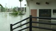 Stock Video Footage of Flooding In Aftermath of Hurricane Landfall