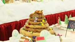 Ginger bread house 8 Stock Footage