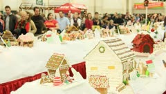 Ginger bread house 6 Stock Footage