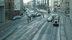 Munich crossroad timelapse Stock Footage