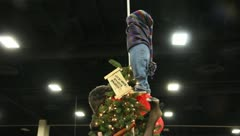 Christmas tree from the christmas story legg Stock Footage