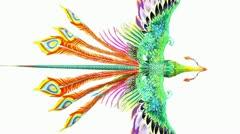 Flying Phoenix.bird,design,art,wing. - stock footage