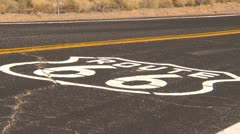 Route 66 zoom, no car - stock footage