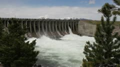 Jackson lake Dam Stock Footage