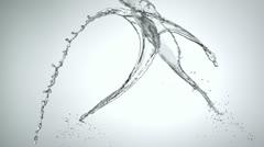 Water Splash in midair, Slow Motion - stock footage