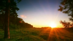 Timelapse. rural landscape at sunset. Stock Footage