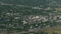 Missoula Montana high angle of city Stock Footage