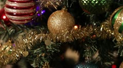 Stock Video Footage of Christmas Tree and Decorations