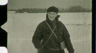 Stock Video Footage of Cross Country Skiing Circa 1935 (Vintage Film Home Movie) 1483