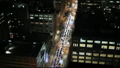 Traffic on 7th Avenue in Soho, New York City, USA Stock Footage