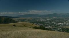 Missoula Montana wide shot of city #2 Stock Footage