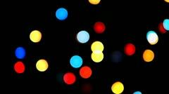 HD - Christmas lights_random blinks Stock Footage