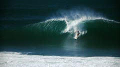 Hawaiian big wave surfing. Stock Footage