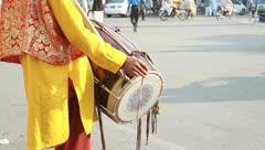 Punjabi Desi Drummer Stock Footage