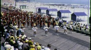 Stock Video Footage of Marching Band Atlantic City Boardwalk Circa 1965 (Vintage Film Home Movie) 1495