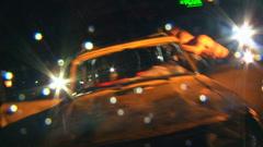 Overturn car Stock Footage