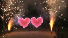 Wedding fireworks Stock Footage
