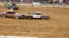 Demolition derby 23 - stock footage