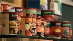 Cans of food Storage - stock footage