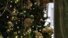 Christmas Tree Ornaments White Stock Footage